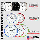 CAMY Wall Clock- Super Silent Non Ticking - Quartz Battery Operated