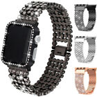 For Apple Watch iWatch 5 4 Band Bracelet Diamond Bling Metal Strap 38/40/42/44mm image