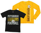 NFL Youth Pittsburgh Steelers Fan Two Piece Performance T-Shirt Combo Set $29.99 USD on eBay