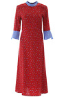 NEW Hvn printed ashley dress FW191502 Combo Red High Heel AUTHENTIC NWT