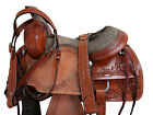 15 16 USED ROPING WESTERN SADDLE HORSE TRAIL RANCH ROUGH OUT LEATHER TACK SET