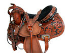 COMFY TRAIL SADDLE WESTERN HORSE FLORAL TOOLED LEATHER 15 16 PLEASURE TACK SET