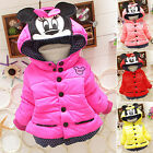 Baby Girls Toddler Kids Mickey Mouse Hooded Jacket Coat Winter Warm Outerwear US