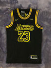 NWT LeBron James 23 Los Angeles Lakers Men's BLACK MAMBA Basketball Jersey