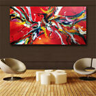 Abstract red artwork HD print on canvas huge wall picture (31x63)