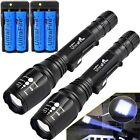 1000000LM T6 LED Rechargeable High Power Torch Flashlight Lamps Light +Charger``