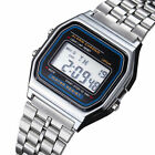 Classic Military Mens Stainless Steel LED Digital Sport Quartz Wrist Watch image