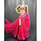 Women professional belly dance costume set carnival bellydance clothes outfit