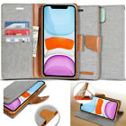 For Apple iPhone 11, 11 Pro , Pro MAX Case Goospery [ Canvas ] flip wallet Cover
