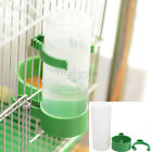 1~2Pcs Green Plastic Pet Bird Drinker Feeder Waterer With Clip for Pigeon S/L