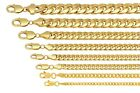 10k Yellow Gold Miami Cuban Link Chain Necklace Bracelet 4mm-7.5mm Size 7'-30'