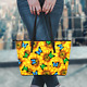 Large Premium Sunflower Butterfly Tote Bag photo