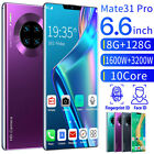 """Mate31 Pro Android 10 4g Smartphone 10 Core 8+128g 6.6"""" Full Screen With Face Id"""