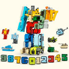DIY 15Pcs Numbers Set Team Transform Robot Puzzle Teaching Toy Kids Xmas Gift For Sale