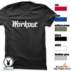 WORKOUT Gym Rabbit T-Shirt Workout Gym Fitness Weightlifting Motivation E203 image