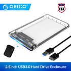 "ORICO SATA 3.0 External 2.5"" Inch Hard Drive Enclosure USB3.0 HDD With Case"