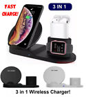 3in1 Qi Wireless Fast Charger Dock Stand Watch For AirPods iPhone X Xs XR 11 MAX