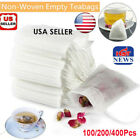 Lots 50- 400x Empty Teabags String Heat Seal Filter Paper Herb Loose Tea Bags ld
