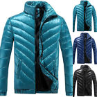 Mens Padded Jacket Parka Fur Hoodie Hood Bubble Coat Winter Warm Puffer Quilted