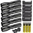 18650 LED Flashlight High Powered 5Modes Torch Zoomable Light+Battery+Charger