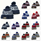 Winter Warm Knit Embroidered All MLB Team Pom Beanie Hat Unisex Adults Teenagers on Ebay