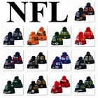 Removable Pom Knitted Warm Embroidered NFL Football All Teams Beani $12.99 USD on eBay