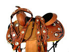 PONY WESTERN SADDLE 13 12 PLEASURE HORSE SHOW TRAIL FLORAL TOOLED LEATHER TACK