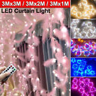 Led Feathers Curtain Fairy String Lights Christmas Home Party Wedding Decor Usb