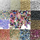 1000x Tiny 3mm Acrylic Pearl Beads For Jewellery Making - Pick Your Colour