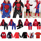 Spiderman Clothes Kids Boys Tracksuit Hoodie Joggers Sweatshirt T Shirt Outfits