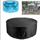 Round Waterproof Patio Garden Furniture Cover Large Dustproof Covers Black Us