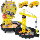 Tyre Engineering Parking Garage Playset Model Assembling Tunnel Kids Toy Gifts