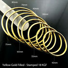 Bangle Bracelet Cuff Real 18k Yellow G/f Gold Solid Girls Kid Size 40-70mm