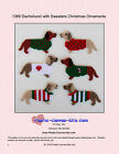Dachshunds in Sweaters Christmas Ornaments-Dogs-Plastic Canvas Pattern or Kit