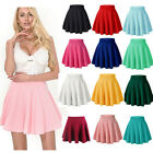 Women's High Waist A Line Skater Mini Skirt Flared Pleated Short Skirt Dress New