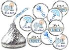 IT'S A BOY ITS A BOY BABY SHOWER PARTY FAVORS KISSES KISS LABELS STICKERS
