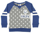 Outerstuff NFL Little Girls Indianapolis Colts Logo Polka Dot Long Sleeve Crew $24.95 USD on eBay