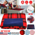 US Portable 5V USB Electric Heated Car Office Winter Warm Blanket Cover Heater image