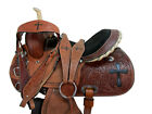 RODEO WESTERN SHOW BARREL RACING PLEASURE TRAIL LEATHER HORSE SADDLE 15 16 TACK