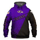 Baltimore Ravens Hoodie Hooded Pullover S-5XL Football Team Fans NEW Designs $29.44 USD on eBay