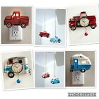Old Antique Retro Red Truck and Camper Pendulum Wall Clock Home Decor Accents