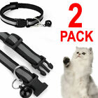 2X Reflective Breakaway Nylon Cat Safety Collar with Bell for Cat Kitten