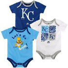 Majestic MLB Infant Kansas City Royals Go Team! Three Pack Creeper Set on Ebay