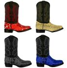 Kyпить Women's Sequins Boots Real Leather Cowboy Boots Square Toe на еВаy.соm