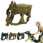 Tactical Military Police-K9 Training Dog Harness Adjustable Molle Nylon Vest