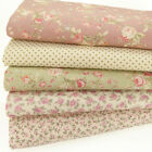 100% COTTON FABRIC BUNDLE Vintage Rose Pink Spot Ditsy Floral Craft Material