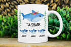 Tia Gift Tia Shark Mug Custom Tia Mugs Mug With Kids Names Tia Est Coffee Mug