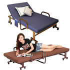 Metal Fold up Guest Visitor Compact Bed Folding Away Beds Adjustable Recliner