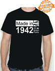 80th BIRTHDAY T-shirt MADE IN 1940 / All British Parts / Royal Crown / All Sizes
