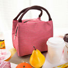Unisex Striped Insulated Lunch Bag Cooler Adult Food Thermos Travel Work Kv